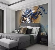 3D Rhino Force Wall Paper Wall Print Decal Wall Deco Indoor wall Mural Home