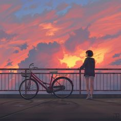 Artwork for all your clothing/decor # cute # nature # yellow # space # blue # mountains # trendy # moon # cool # pink Anime Scenery Wallpaper, Cute Anime Wallpaper, Naruto Wallpaper, Art Anime, Anime Art Girl, Aesthetic Art, Aesthetic Anime, Alone Art, Japon Illustration