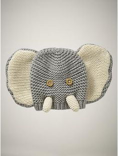 favorite elephant hat  gray  0-12 months