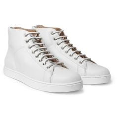 Gianvito Rossi - Full-Grain Leather High-Top Sneakers (White) - €541.45