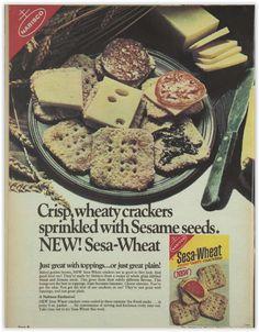 Nabisco Sesa-Wheat Crackers Magazine Advertisement Ad January 1970 Vintage Retro