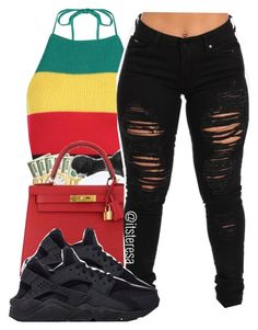 """Untitled #171"" by itsteresa ❤ liked on Polyvore featuring Boohoo, Hermès and NIKE"