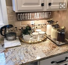 My coffee bar in my kitchen is def the highlight of my morning! che… My coffee bar in my kitchen is def the highlight of my morning! check out my personal page for sources. ❤️ More - Style Of Coffee Bar In Kitchen Diy Kitchen Decor, Kitchen Redo, New Kitchen, Diy Home Decor, Kitchen Ideas, Kitchen Corner, Kitchen Interior, Corner Pantry, Kitchen Inspiration