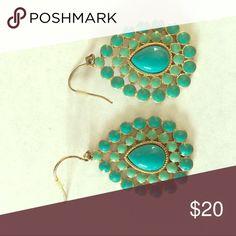 Stella and Dot Turquoise Drop Earrings Beautiful two toned turquoise earrings! Stella & Dot Jewelry Earrings