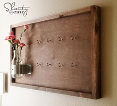 DIY Key Hook with Bottle Vase- add a mail organizer to it off keeping near the door