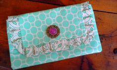 Mint Green Ruffled Clutch by Proverbs31Karen on Etsy, $30.00