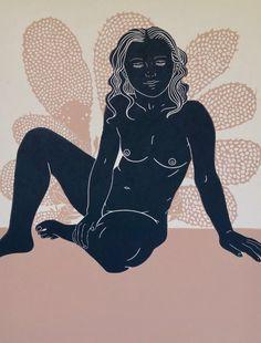 Underneath II Linocut by Ellen Von Wiegand Painting Inspiration, Art Inspo, Linocut Prints, Art Prints, Bullet Art, Acid Art, Linoprint, Hippie Art, Illustrations And Posters