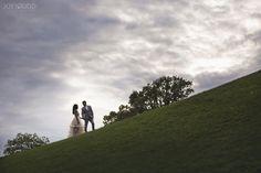 Beautiful Elopement Wedding at the Arboretum and Experimental Farm by Ottawa Wedding Photographer Joey Rudd Photography Dramatic Walking Pose Sunset