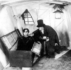 Ahead of Hidden Door's electronic re-scoring of the film in Edinburgh this month, we look at seminal German horror film The Cabinet of Dr Caligari. Dr Caligari, Silent Horror, Silent Film, German Expressionism Film, Robert Wiene, Pantone, Tv Movie, Famous Monsters, Gothic Horror