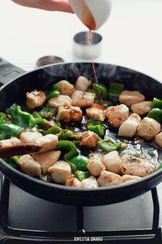 Stir-fry z kurczakiem słodko-kwaśnym