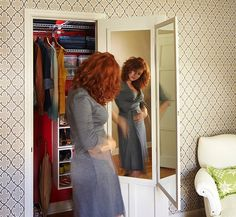 How To Build And Attach A Bi Fold Mirror To The Back Of Your Closet