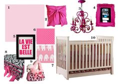 baby girl nursery -- hot pink featuring the Peyton Classic crib with drawer by Bonavita available at Baby Go Round in Hampton Falls, NH  www.babygoroundinc.com