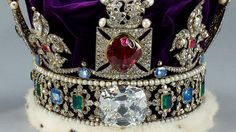 """The gem's origin is thought to be a mine in what is now Tajikistan. During the middle of the 14th century, it was owned by Abū Sa'īd, the Moorish Prince of Granada, who was murdered by Don Pedro the Cruel. Don Pedro took the jewel, but was obliged to give it to the Black Prince, son of Edward III of England, in return for help to put down a revolt. Technically, it's not a ruby but a spinel, which is now considered different, since it is not quite as dense or hard as a """"true ruby."""" The Black…"""