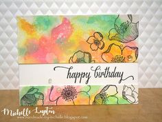 Handmade by Michelle: Playing with oxide inks