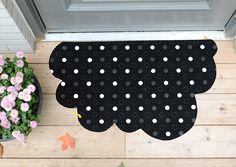 DIY Polka Dot Cloud Mat Tutorial