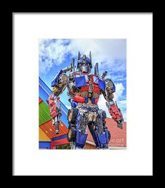 Optimus Prime Framed Print featuring the photograph Transformers Optimus Prime Or Orion Pax by Edward Fielding