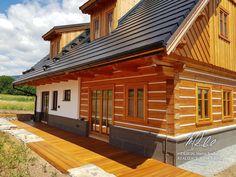 Fotogalerie realizovaných roubených staveb - roubenkyroubal.cz Chalet Style, Log Homes, Home Fashion, Home Improvement, Sweet Home, Farmhouse, Cottage, Construction, House Styles