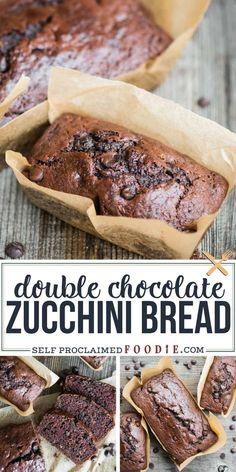 Healthy Chocolate Zucchini Bread, Easy Zucchini Bread, Zucchini Bread Recipes, Zucchini Cake, Quick Bread Recipes, Cooking Recipes, Zucchini Bread Muffins, Zucchini Scones Recipe, Chocolate Bread Recipe