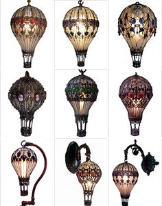 lampes mongolfiere