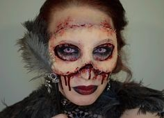 """This year I looked like this. I made a masquerade mask of my """"own"""" skin. I was a little unsure if I would get the result I wanted, and if the mask would hold the entire evening. But it did:D Now it´s a whole year until next time. But hey, plenty of time to plan next makeup:)"""