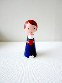 Little wooden doll  Gifts For Her Custom by ArtForHappyPeople