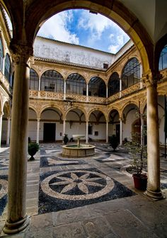 *SPAIN ~ PALACE VAZQUEZ DE MOLINA: or of the Chains is the most outstanding palace of the city of Ubeda, Jaen province, and one of the most lavish of Spain. It is a civil Renaissance palace. National Monument, located in Plaza Vázquez de Molina, is the town hall since 1850. In his cellar floor the Renaissance Interpretation Centre is installed.