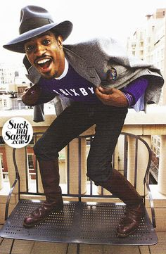 André 3000 - take notes, fellas Mode Hip Hop, Andre 3000, Crazy Outfits, Vogue, Classic Outfits, Classic Clothes, Classic Man, Hats For Men, Style Guides