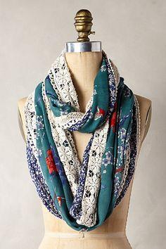Gorgeous flocked scarf - Anthropologie #anthrofave