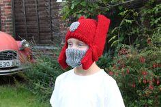 KNITTING PATTERN- Child's Robot Knit Hat by SebastianLovesKnit on Etsy