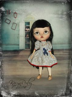 Blythe  Vintage  Inspired with  Pintucking By KarynRuby
