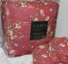 RALPH LAUREN Longmeadow St Germain Red Floral QUEEN COMFORTER & SHAMS NEW 1ST