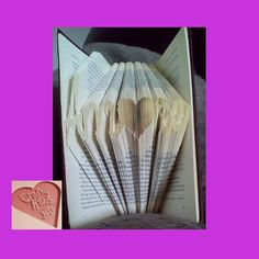 Book Folding Pattern Amore with Heart 225 Folds by CraftyHana