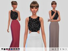 Hastings Dress by Metens at TSR via Sims 4 Updates Sims 4 Dresses, Formal Dresses, Women's Dresses, Sims 4 Black Hair, Sims 4 Gameplay, Sims 4 Mm Cc, Sims 4 Clothing, Sims 4 Update, Sims Resource