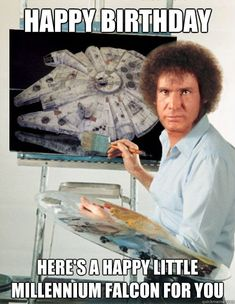 Happy Birthday Here's a happy little Millennium Falcon for you ...