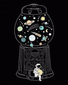 """1000 Zeichnungen: """"by I Love Doodle"""" - - Art - Wallpaper Space Doodles, Love Doodles, Space Drawings, Cute Drawings, Doodle Drawings, Galaxy Wallpaper, Wallpaper Backgrounds, Planets Wallpaper, Drawing Wallpaper"""