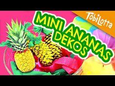 DIY Ananas basteln Sommer Kinderzimmer Deko - Tobilotta 50 - YouTube