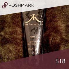Kim Kardashian Gold Body Lotion 3.4 oz Kim Kardashian Gold Fragrance Body Lotion 3.4 oz. Brand new, unused and sealed! Kim Kardashian Makeup