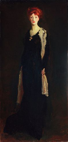 Lady in Black with Spanish Scarf (O in Black with a Scarf) by Robert Henri A work from the collections of the de Young and Legion of Honor museums of San Francisco, CA. William Glackens, Morgana Le Fay, Ashcan School, Robert Henri, American Realism, Google Art Project, Portraits, Portrait Paintings, Oil Portrait