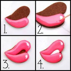 LilaLoa: Valentine's Day Kissing Lips Cookies