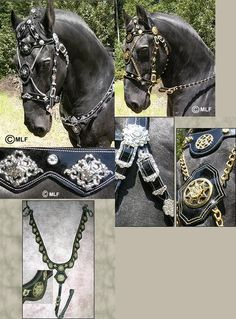baroque bridle | And this is the matching saddle to the bridle, the bridles on top but ...