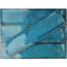 Ivy Hill Tile Moze x Ceramic Subway Tile Color: Blue Ceramic Mosaic Tile, Ceramic Subway Tile, Stone Mosaic Tile, Marble Mosaic, Mosaic Glass, Mosaic Wall, Beveled Glass, Wood Look Tile, Carrara