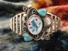 Bracelets   Zuni Style Silver Cuff  Silver by WorldwideOddities, $65.00  silver, not sterling