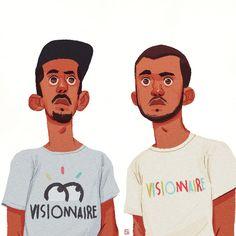 Bigflo et Oli, Antoine Guth on ArtStation at https://www.artstation.com/artwork/5lwdg