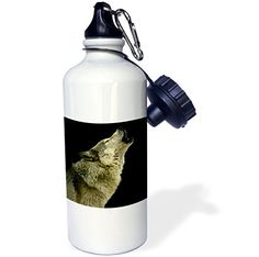 """Camping Kitchen :""""3dRose wb_724_1 Timber Wolf Sports Water Bottle : 21 oz : White"""" >>> Tried it! Love it! Click the image."""