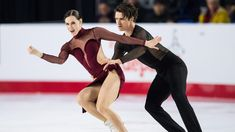 Tessa Virtue, left, and Scott Moir perform their free dance during the senior ice dance competition at the Canadian Figure Skating Championships in Vancouver, B., on Saturday January THE CANADIAN PRESS/Jonathan Hayward Virtue And Moir, Tessa Virtue Scott Moir, Ice Skating, Figure Skating, Tessa And Scott, Ice Dance, Movie Couples, Ballroom Dancing, Keep Fit