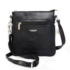 Coach Zip In Logo Small Black Crossbody Bags CFR