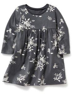 Long-Sleeve Patterned Dress Product Image