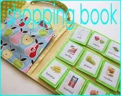 shopping book to keep the little ones busy while shopping - this is a wonderful project/plan/idea!