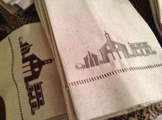 Historic Mooresville Silhouette Towels