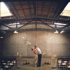 Incredible pictures from an industrial themed styled wedding shoot, shot using both film and digital photography.